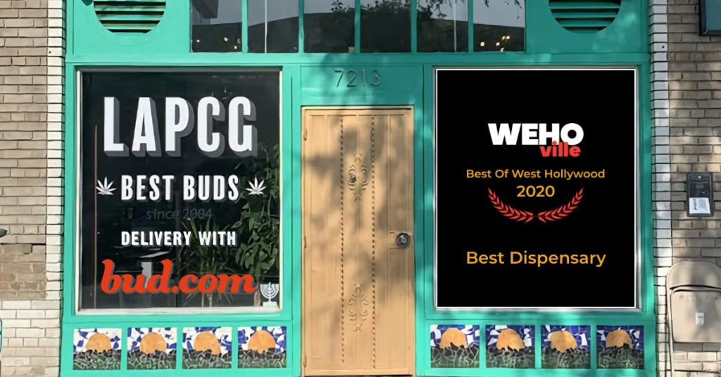 LAPCG wins Best Dispensary of West Hollywood for 2020 and delivers with bud.com