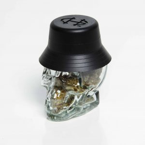 Zookies quarter in a Cypress Hill collectible crystal skull jar